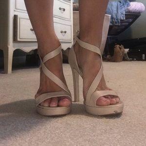 Beige BCBG heels